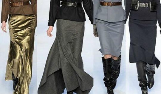 Зимние длинные юбки