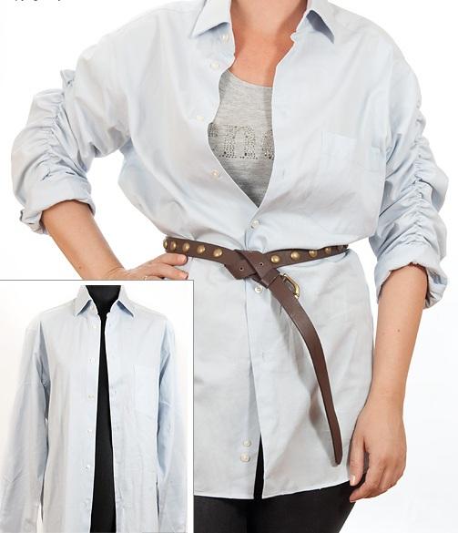 Как сшить блузку из мужской рубашку 161