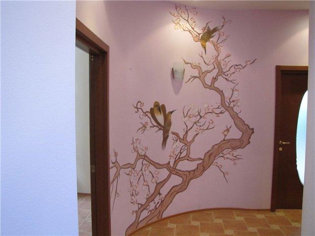 Разрисовываем стены в квартире своими руками