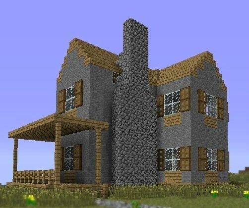 Красивый дом в майнкрафте схема постройки