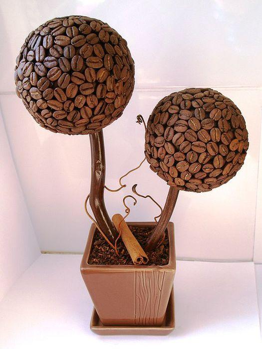 Поделки из кофейных зерен своими руками: мастер класс с