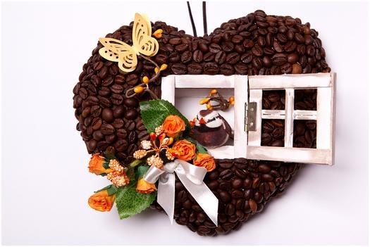 Как сделать кофейное сердце своими руками