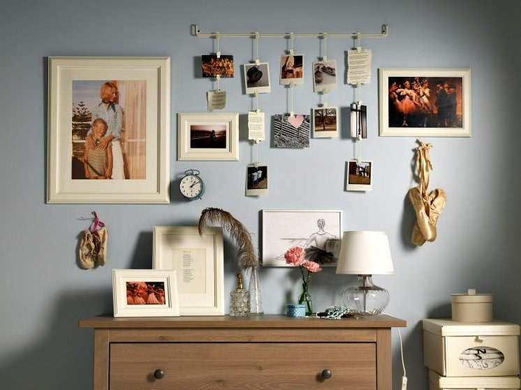 Оформление открытками стены, открытка