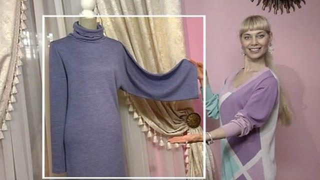 Как сшить платье из тонкого трикотажа 43