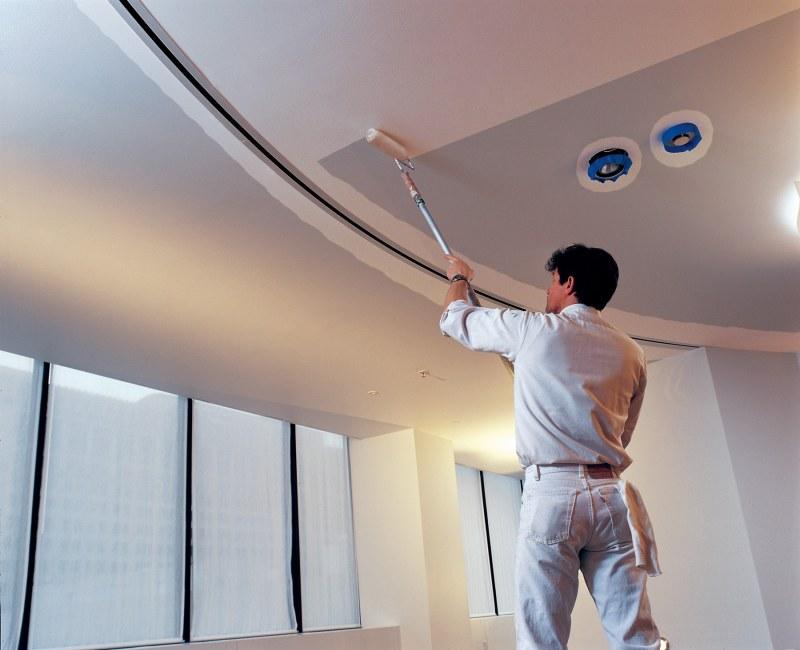 потолок из гипсокартона картинки покраска также организует множество