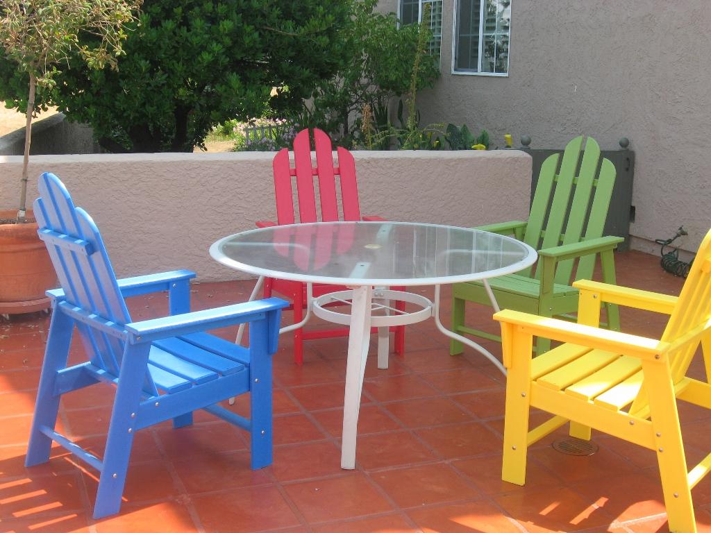 пластиковая мебель для сада фото