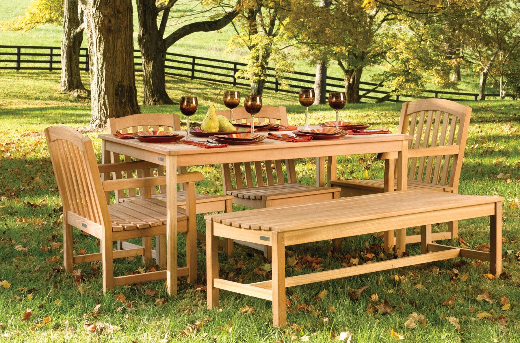 деревянная мебель для сада фото