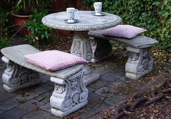 каменная мебель для сада