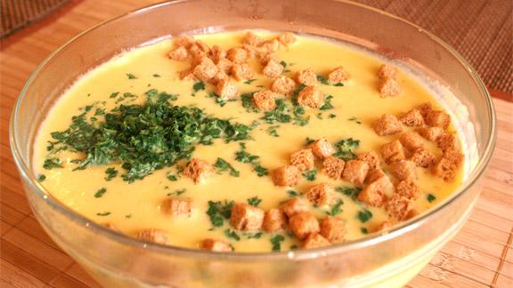сырно суп пюре с белыми грибами рецепт
