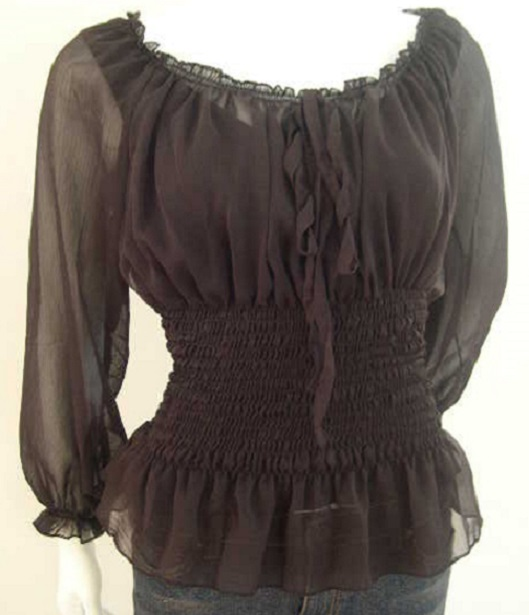 Модные блузки из шифона