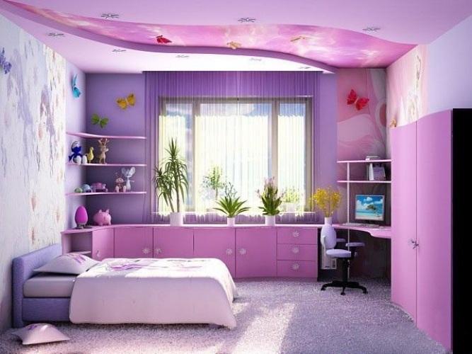 Детская комната девочки по фен-шуй должна быть теплых тонов