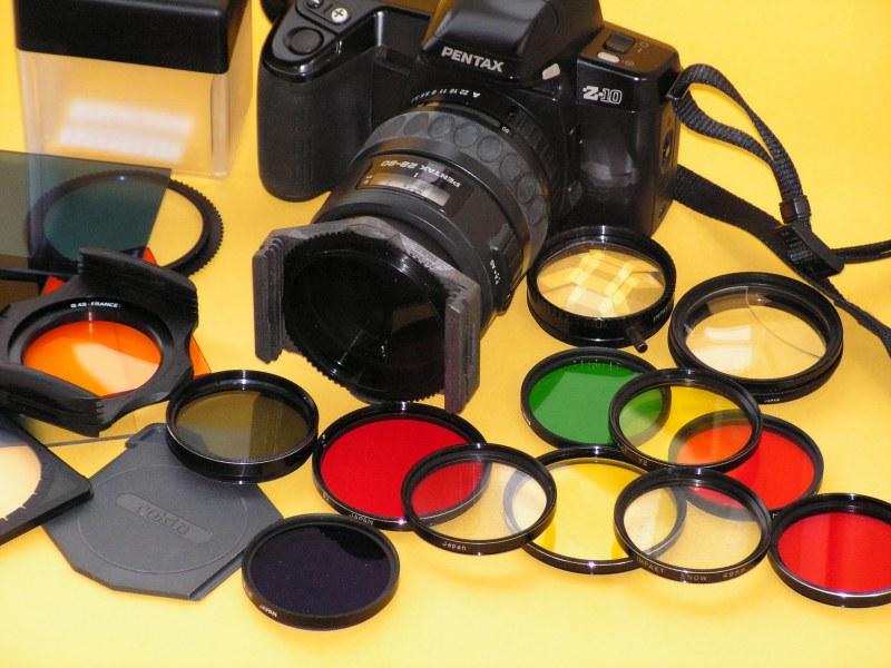 только синий фильтр на фотоаппарате виды которой