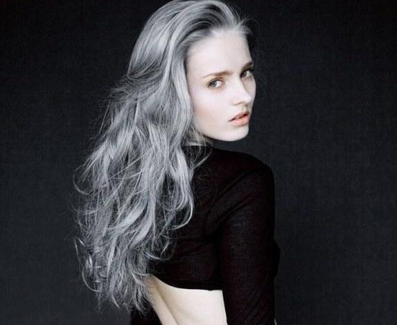 Как сделать красивые седые волосы
