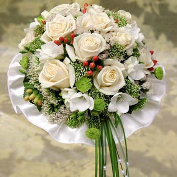 Свадебный букет в сентябре цветы