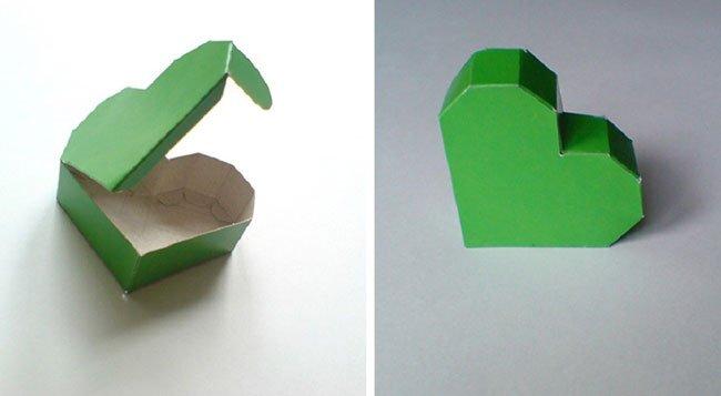 Коробочка сердечко как сделать коробочку из картона фото 464