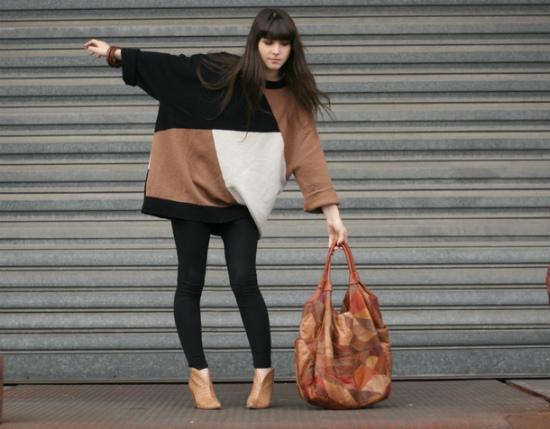 С чем носить безразмерный свитер