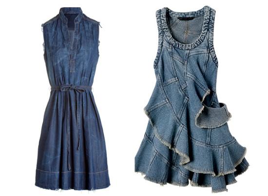 Как носить джинсовые платья