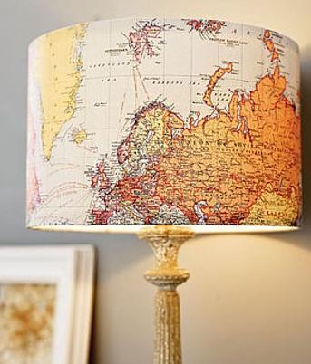 Географическая карта в интерьере. Пять простых идей