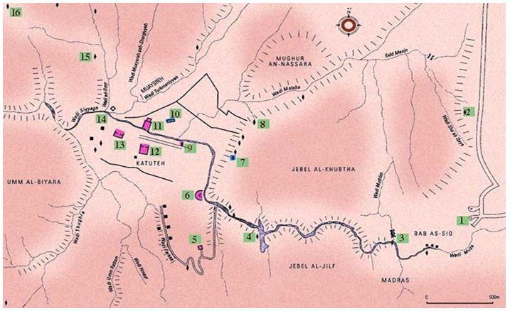 карта Петры