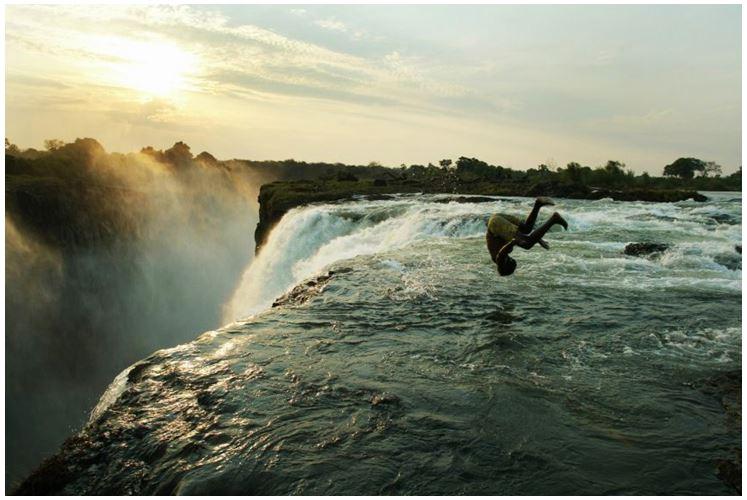 «Бассейн Дьявола», водопад Виктория, Замбия.