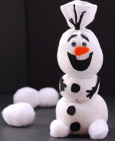 Снеговик из носка своими руками просто и быстро
