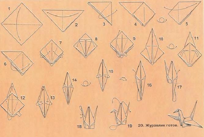 Как сделать журавлика из бумаги :: Hand-made