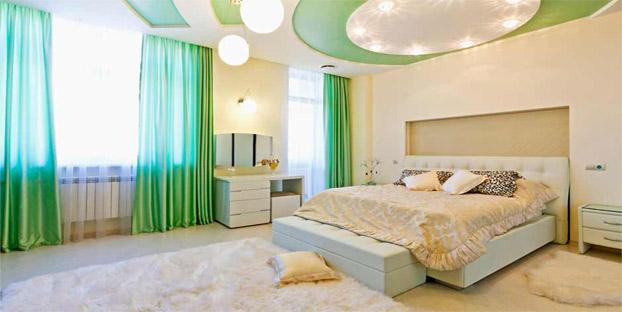 шторы в стиле минимализм для спальни