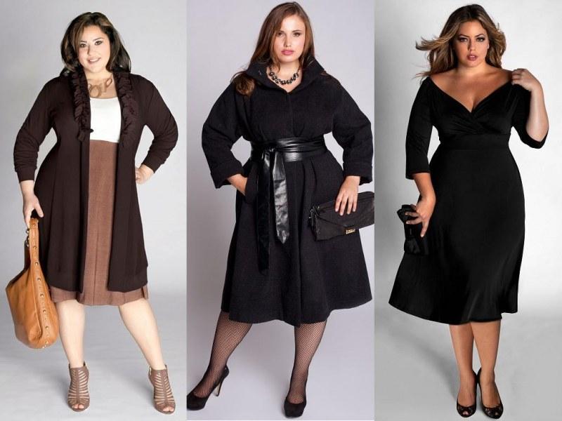 стильная одежда для пышных женщины