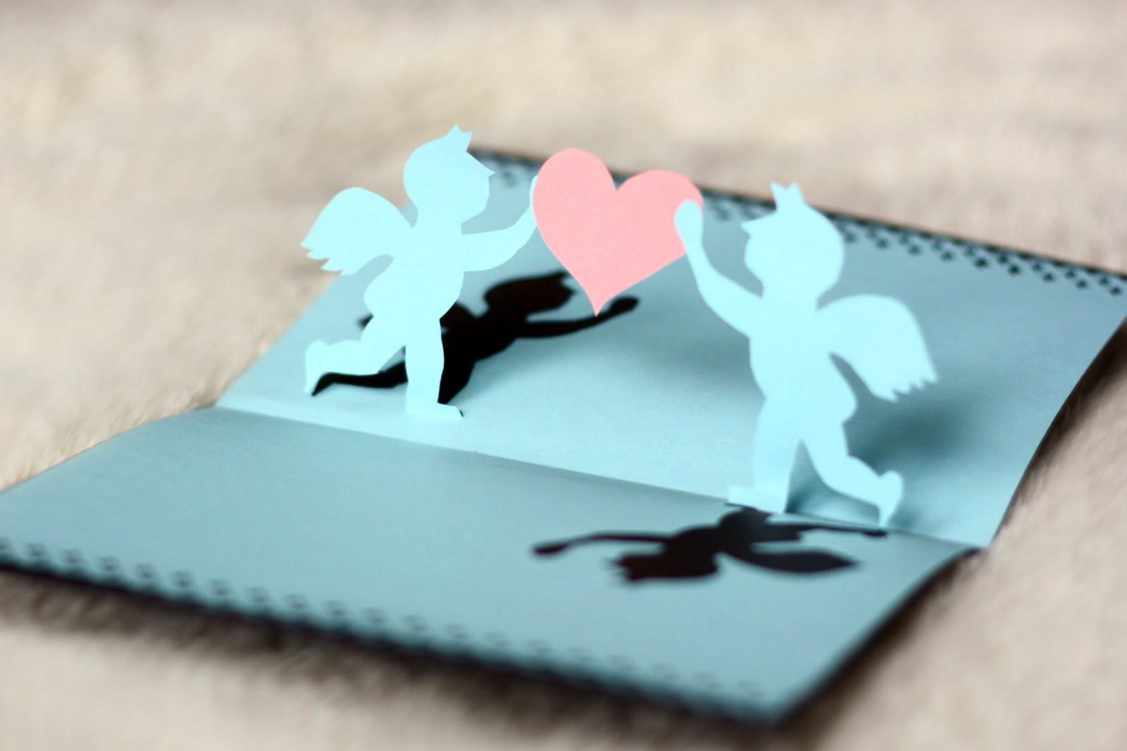 Объемные открытки с ангелочками