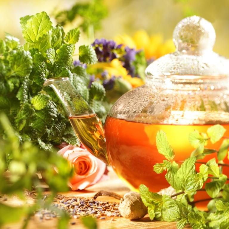 Herbal tea invigorates and tones