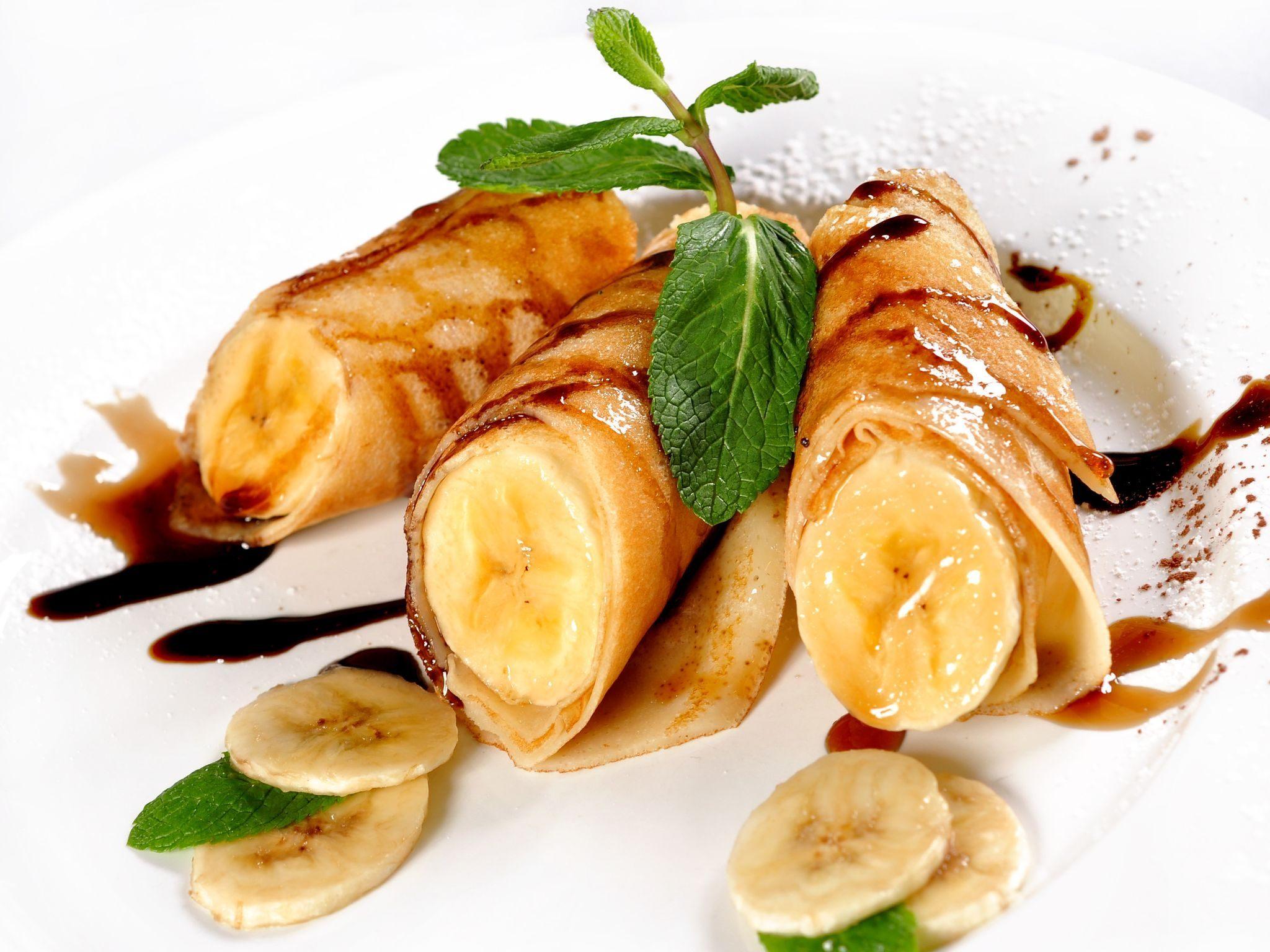 Как сделать начинку для блинов из бананов