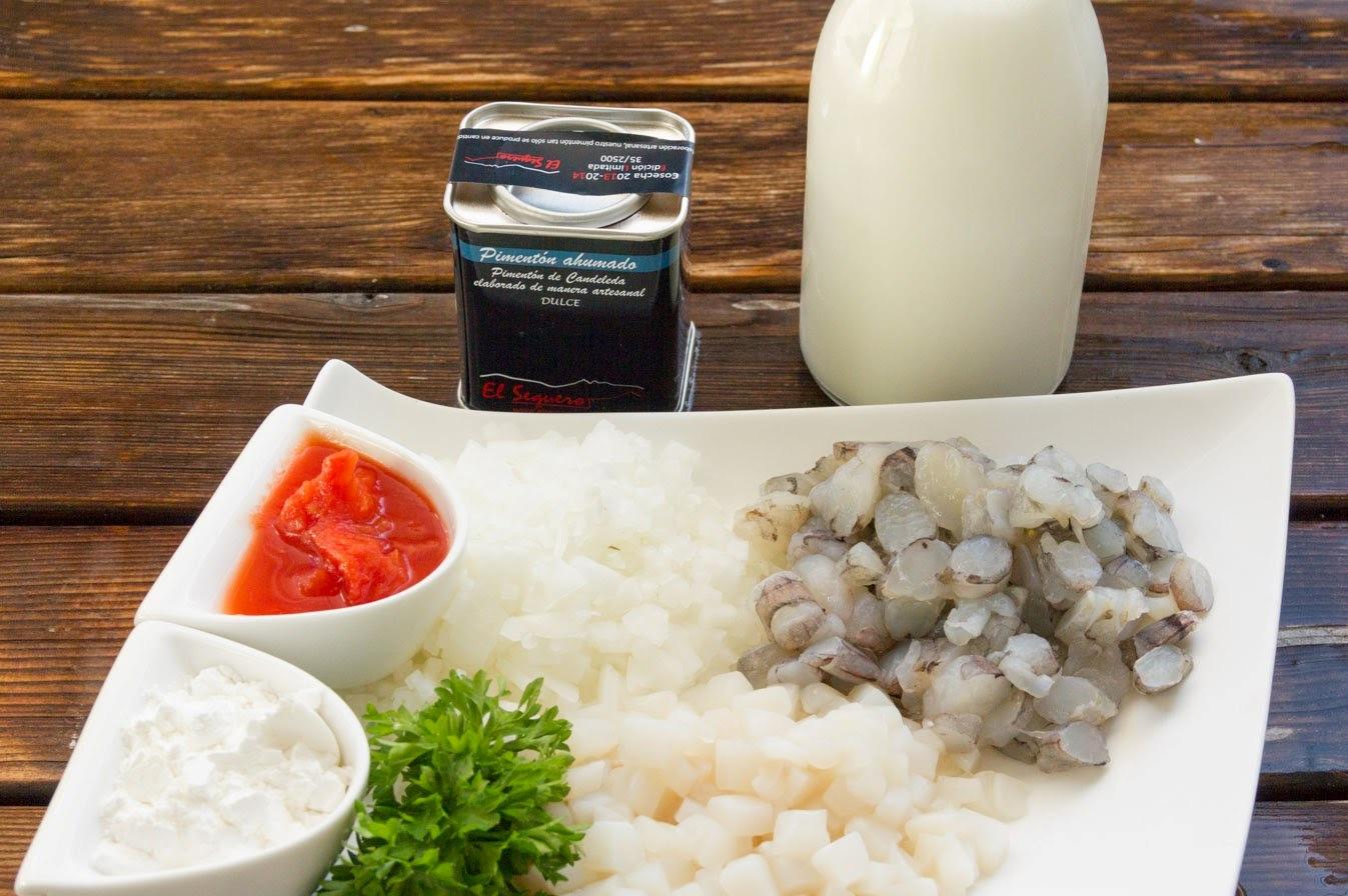 креветки и кальмары рецепт