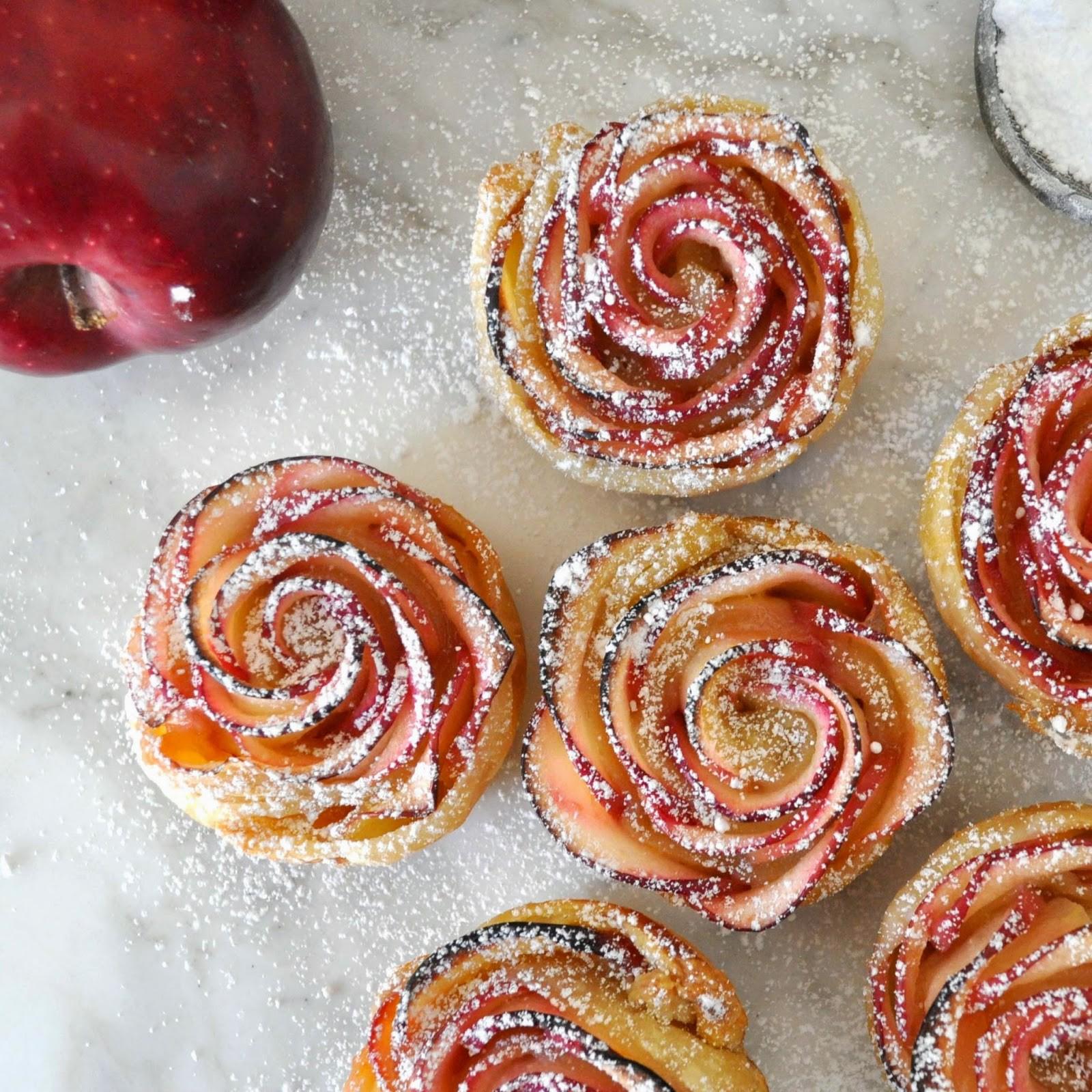 Пирог розочка с яблоками рецепт с