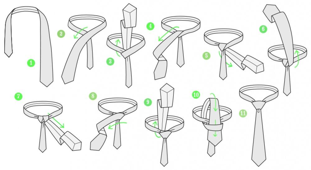 картинки как научиться завязывать галстук контракт барселоной действует