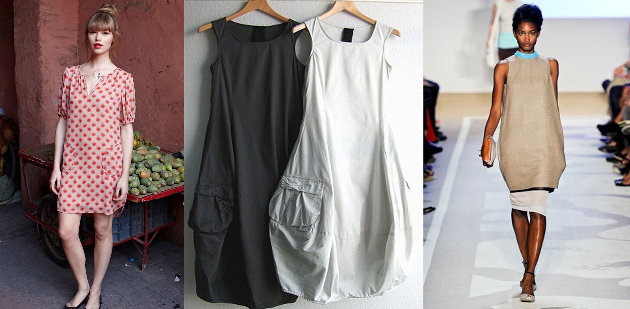платье мешок