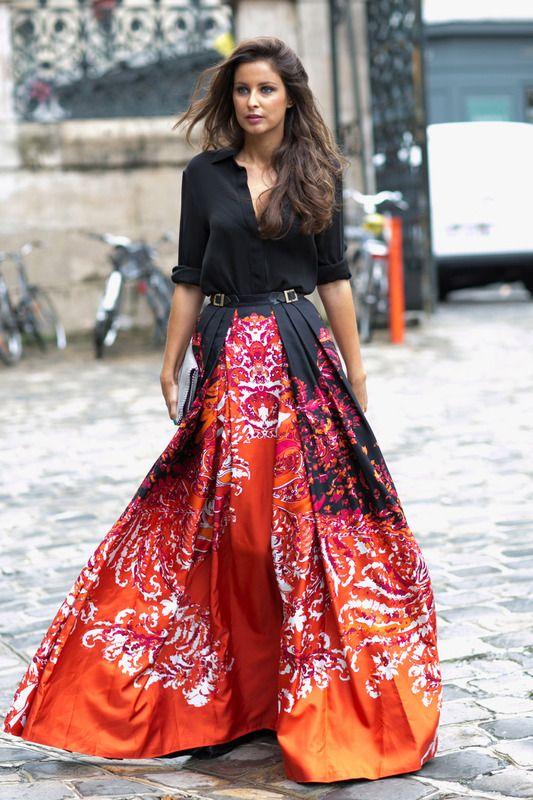 юбка макси 2015