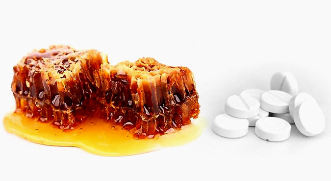 Мед и аспирин от прыщей