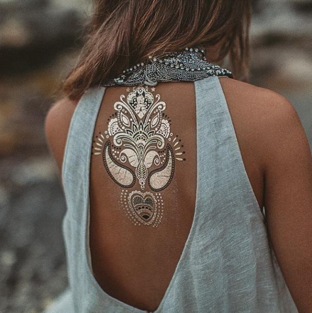временные татуировки золотом