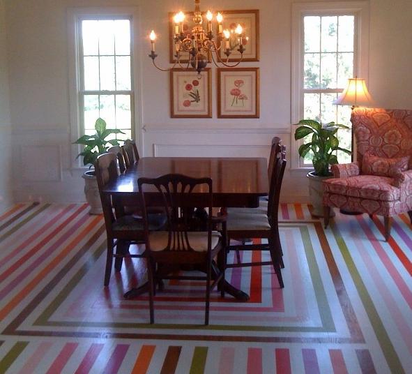 как красиво покрасить пол масляной краской