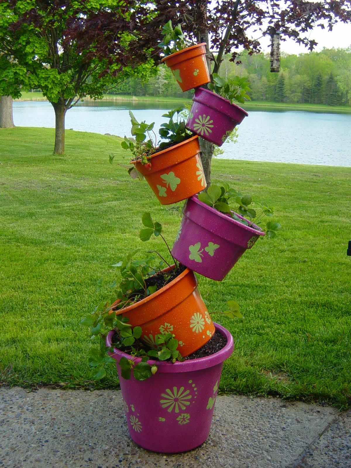 Как изготовить кашпо для сада фото
