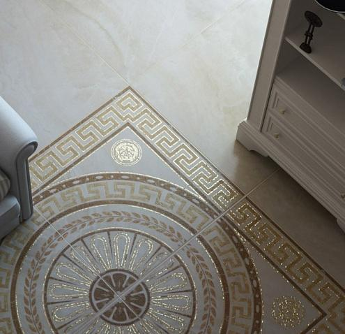Панно из керамической плитки в интерьере