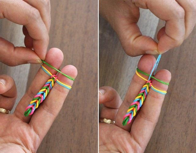 Плетение с резинок на пальцах