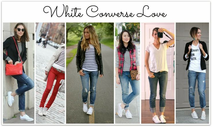 White converse high tops outfit men