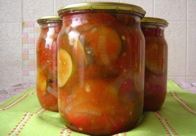 Салаты из огурцов с помидорами на зимуы