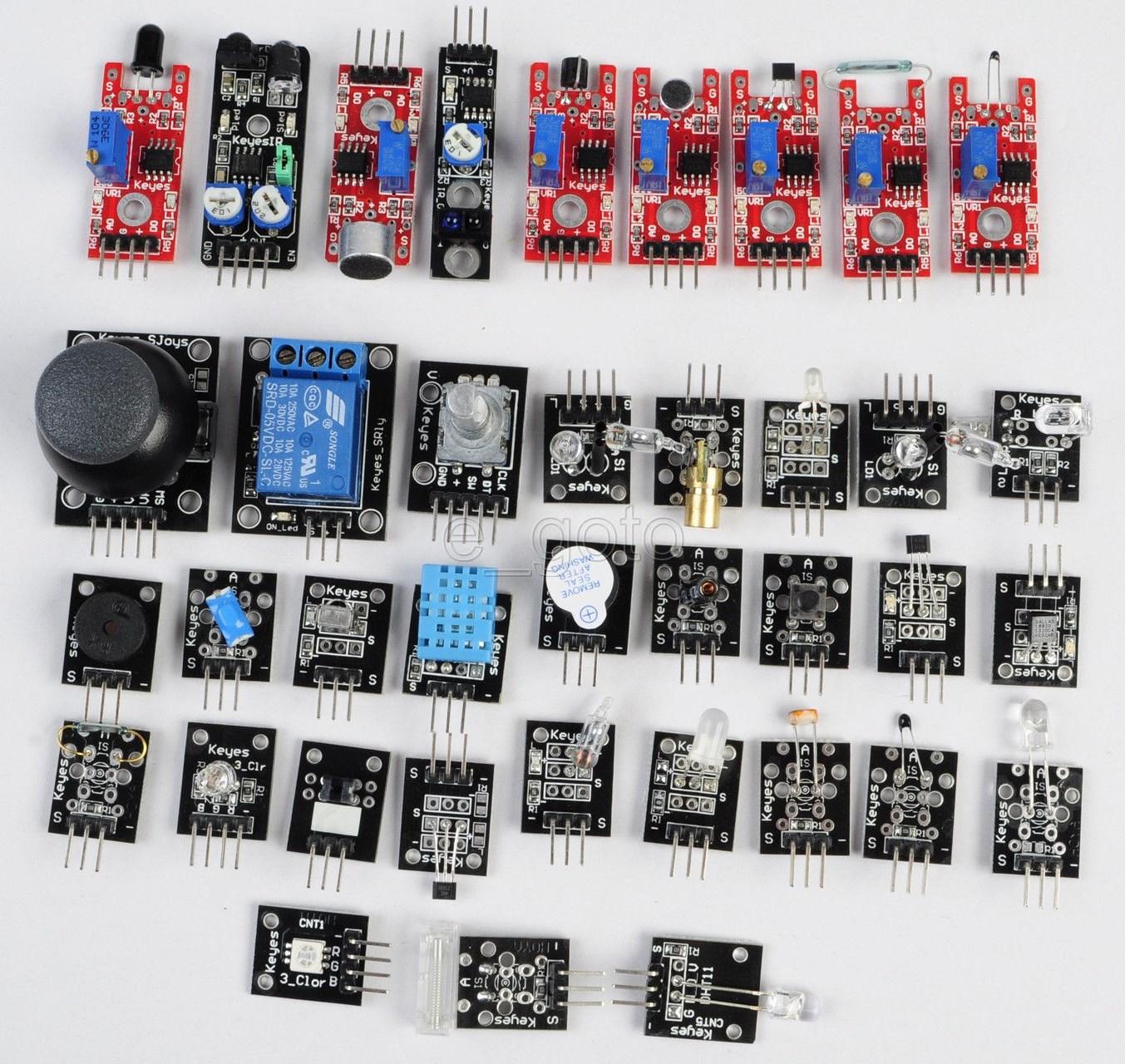 Разнообразные датчики, подключаемые к Arduino