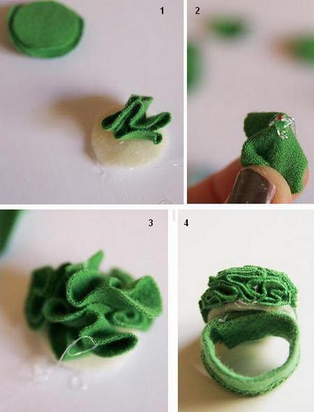Кольцо из лоскутков - простая поделка