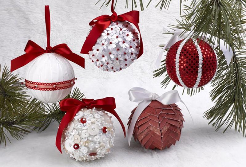Новогодние шары красивые своими руками