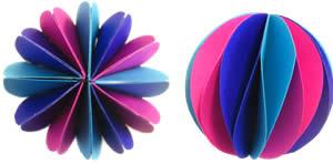 новогодний шар из бумаги изготовление