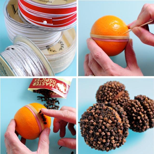 ароматный новогодний шар изготовление