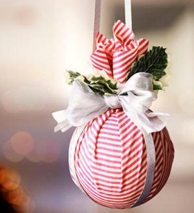 новогодний шар из ткани